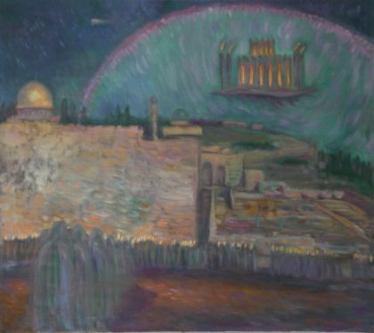 Arrival of The Third Temple into Jerusalem.